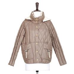 カジュアルなファッションフーデッドジャケット。ウィメンズルーズウェア &tA ;秋 / 冬トレンドダウンジャケット アパレルシンプルコート
