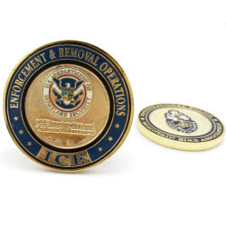 Het Goud van het Messing van de Ambachten van het Metaal van de douane plateerde het Historische Muntstuk van de Uitdaging van de Legering van het Zink van het Muntstuk van de Cultuur Herdenkings Militaire voor de Gift van de Herinnering (CO15)