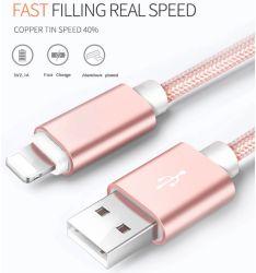 1m umsponnene Daten-Kabel-Handy-Zubehör für iPhone X