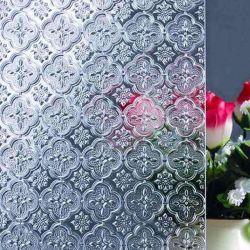 ホーム装飾の植物相のパタングラスのための卸売価格4mm 5mm着色されたフルーティングを施されたガラス