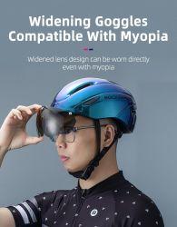 Casque de vélo hommes Integrally-Molded EPS respirante casque cycliste lunettes de protection de l'objectif d'Hommes Femmes Aero MTB casque de vélo de route