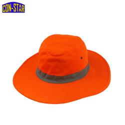 Fluorescerend oranje EN471 Klass2 Cow Boy Hat Emmer reflecterend OEM-strip
