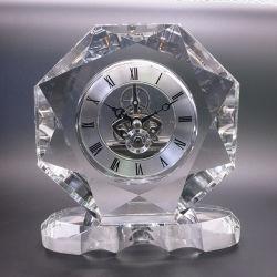 Nuevo estilo de grado superior de la decoración de oficina Home decorar Cristal personalizado Reloj de sobremesa