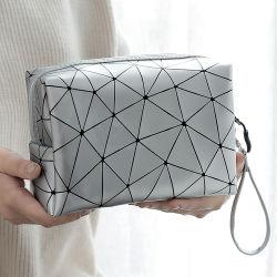 Maquillaje de Viajes Personalizada OEM Beauty Bag Bolsa de envases cosméticos Zipper PU, productos de tocador de lujo componen la bolsa de maquillaje de cuero Bolsos