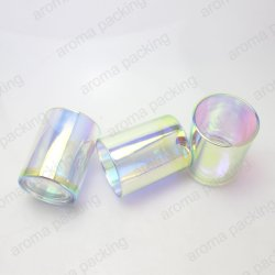 Placage ionique coloré Pattern bougie parfumée Bougie en verre de soja bocaux