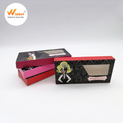 Custom 우수한 Logo 3D Mink Lashes Wholesale Custom Clear PVC Window Boxes Eyelashes Packaging