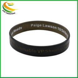 Usine directement Cheap vendre silice personnalisée Obtenez bracelet caoutchouc gaufré