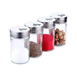 Vaso di vetro del condimento della famiglia del vaso della spezia degli agitatori di vetro
