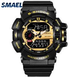 2018 klassische Plastikdigital-analoge Uhr, sportliche Uhr, wasserbeständige Uhr