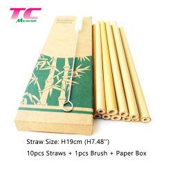 2019 de Hete Verkopende Vriendschappelijke Opnieuw te gebruiken Natuurlijke het Drinken van het Bamboe Eco Schoonmakende Borstel In bijlage van het Stro met de Verpakking van het Vakje van het document