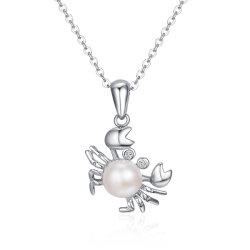 Jóias de 925 Sterling Silver adorável Pearl Colar Pendente