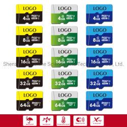 Il nuovo codice categoria 10 della scheda 4-128GB di TF della scheda di memoria di alta qualità di disegno ha stampato il vostro proprio marchio