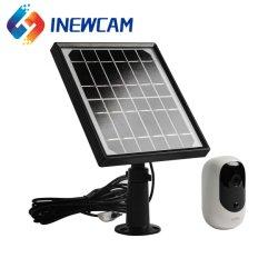 Rede Digital Mini visão nocturna com infravermelhos de 2 MP 2 áudio bidirecional Outdoor Wireless WiFi alimentado por bateria de segurança de vídeo CCTV Câmara IP com painel solar