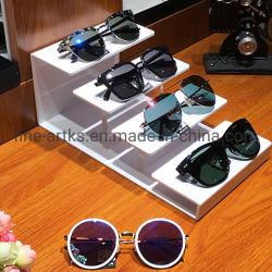 شاشة عرض الحامل مع 4 نظارات شمسية من نوع Tiers أكريليك مخصصة من المصنع