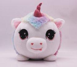 Il cavallo dell'unicorno della scimmia di gufo dell'elefante del leone del panda della peluche della Banca di moneta della peluche della Banca Piggy della peluche con musica scherza il regalo di compleanno