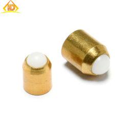 Corpo in ottone personalizzato con estremità a sfera in plastica senza flangia pressa da 10 mm Montare gli stantuffi a sfera a molla