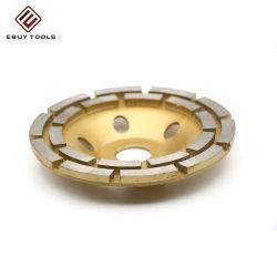콘크리트 및 돌 폴리시 분할 터보 2열 다이아몬드 컵 그라인딩 휠