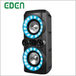 Recargable profesional inalámbrico portátil DJ Sonido Karaoke Carrito de la caja del altavoz Bluetooth PA ED-608