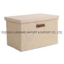 Caja de almacenamiento de ropa de hogar, gran organizador de la plegable de tela Simple canasta con tapa