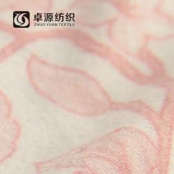 두 배 측을%s 가진 DTY 스판덱스는 뜨개질을 하는 인쇄 직물을 솔질했다