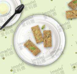 Plastic wegwerpvoeding serveerbaar servies, lunchdoos. Maïszetmeel Dinnerware biologisch afbreekbare plaat voor Party