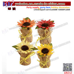 Flores decorativas flores de boda Girasol Home Decorartificial Flor (G8212)