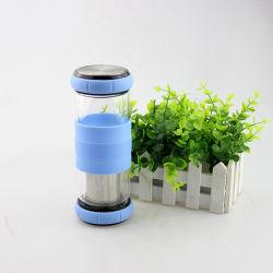 420ml 550ml minha garrafa de vidro isolante Infuser vaso de chá de água com luva de Silicone