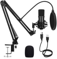 Microfonici a condensatore professionale con filo per microfono BM 800 Kit Live Microfono vocale USB streaming