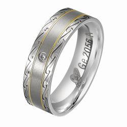 Oro della pancia 925 anelli di campionato d'argento di incandescenza degli uomini d'argento dell'anello