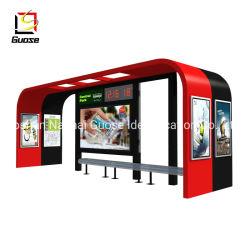 Im Freien vorfabrizierte bekanntmachende Bildschirmanzeige-Bus-Solarschutz