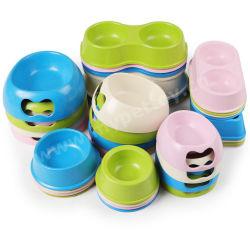Groothandel Eco-Friengly SUS plastic PP Bowl biologisch afbreekbaar bamboe Fiber Pet Voedsel Kom Hondenkom Kat Kom Pet Feeder