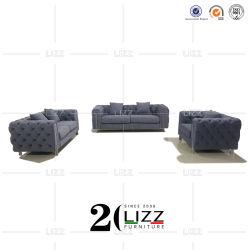 Salón de tejidos de lujo Muebles de salón sofá Chesterfield Suites