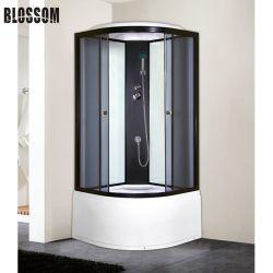 Salle de bains de vapeur noir cabine de douche avec une grande salle de bac humide