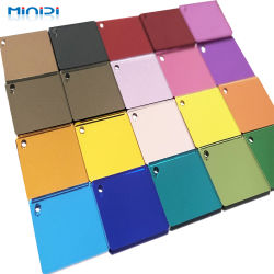 Venta caliente fábrica hermosa Anti-Scratch colorido estilo Normal 1220*2440mm hoja de espejo de acrílico para mueble de decoración de interiores