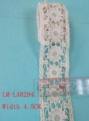 Vêtements Accessoires couleur détail bricolage Artic Drawnwork Chemical Trim Woven Wave Faber tissu porte-monnaie broderie crochet 45mm 4.5cm Flower Vitage Rouleau de dentelle en coton