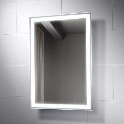 Armazón de aluminio Hotel cuarto de baño decoración pared iluminado LED iluminado espejo de maquillaje