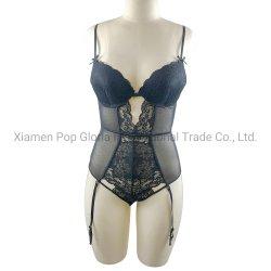 Sexy Bodysuit женщин с мягким внутри высокое качество кружевом и сетка