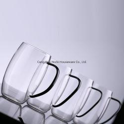 Formato Oval chávena de chá de vidro borossilicato caneca de café