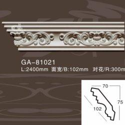 Talla de PU Molduras para decoración de interiores