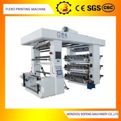 6 Cor do papel/PE/BOPP Bag Flexo/Flexográfico Impressora de Registo