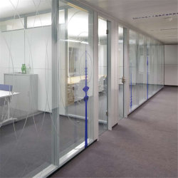 Egoodの現代アルミ合金の倍の緩和されたガラスのオフィスの隔壁