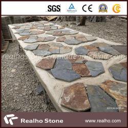 L'ardesia di pietra naturale copre di tegoli il mosaico per la pavimentazione del pavimento della parete