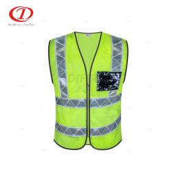 Vest van de Veiligheid van het Zicht van de Veiligheid van de Zak van pvc hallo het Weerspiegelende