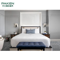 주문품 파이브 스타 호텔 별장 /Apartment 현대 나무로 되는 침실 객실 Hospilitly 가구는 Mobiliario De Hotel을 놓는다