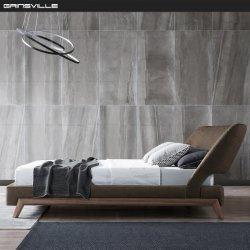 El Lujo moderno cama King Size con buenas piernas de chapa de madera de nogal MUEBLES HOGAR establece