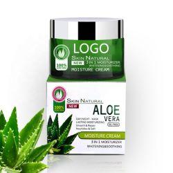 Private Label natuurlijke organische schoonheid gezicht Aloe Vera Cream Anti Acne Moisturizer Brightening Dark Spot verwijderen Aloe Vera Face Cream