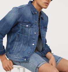 2019 Venda Quente Homem Jaqueta Denim jeans azul fina em stock aceitar homens Jaqueta Denim personalizada