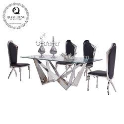 Столовая мебель стекло наружного зеркала заднего вида таблицы из нержавеющей стали обеденный стол,