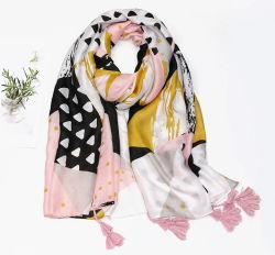 La mujer de la marca de moda el Diseñador de Chanel agradable señora frutos impresión Hoja Dama hiyab bufandas de seda Playa Poly Accesorios mantón jefe le robaron la bufanda para niñas