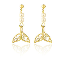 方法宝石類の尻振り滑空の真珠のイヤリング